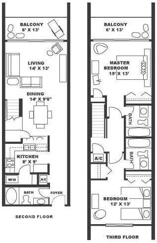 Narrow 2 Bedroom Apartment Floor Plans | Savae.Org