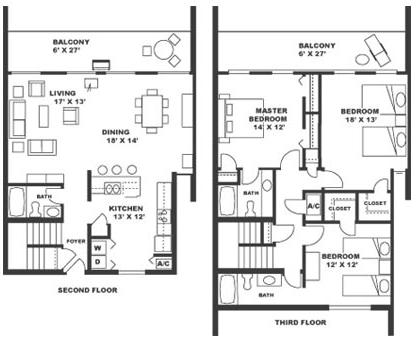 Resort homes floor plans home design and style for 3 bedroom beach house designs