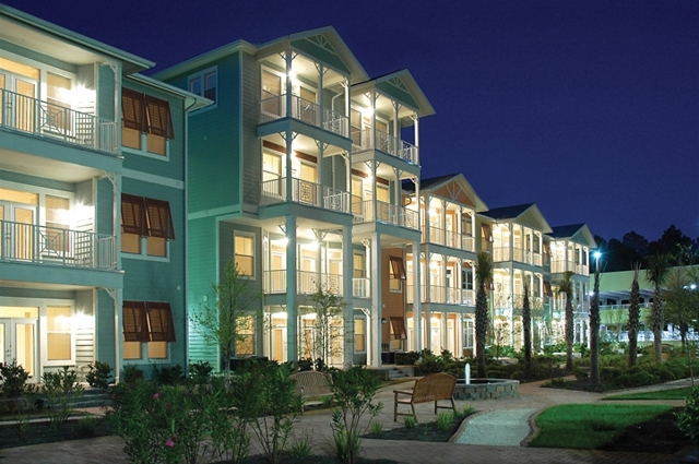 island reserve condos at night